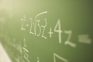Math problems on chalk board1