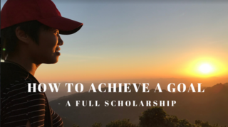 How to achieve a goal - a full scholarship