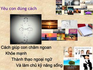Yêu con đúng cách: Cách giúp con chăm ngoan, khỏe mạnh,  thành thạo ngoại ngữ và làm chủ kỹ năng sống