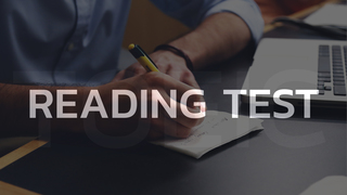 The secret to the TOEIC Reading test